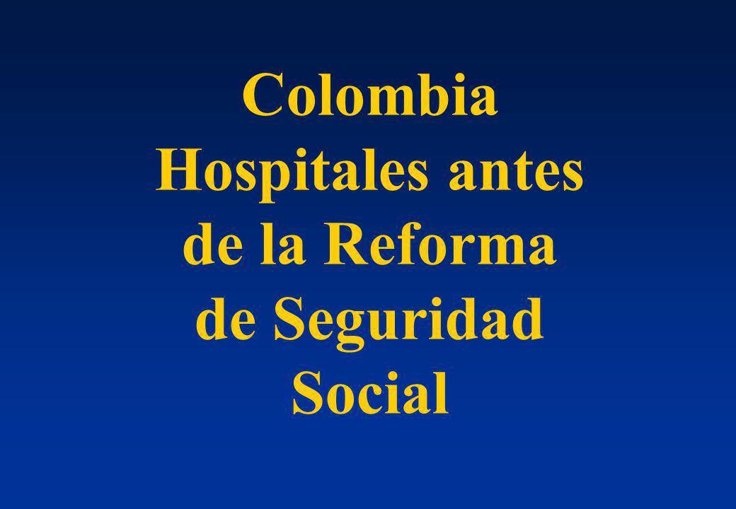 Colombia Hospitales antes de la Reforma de Seguridad Social