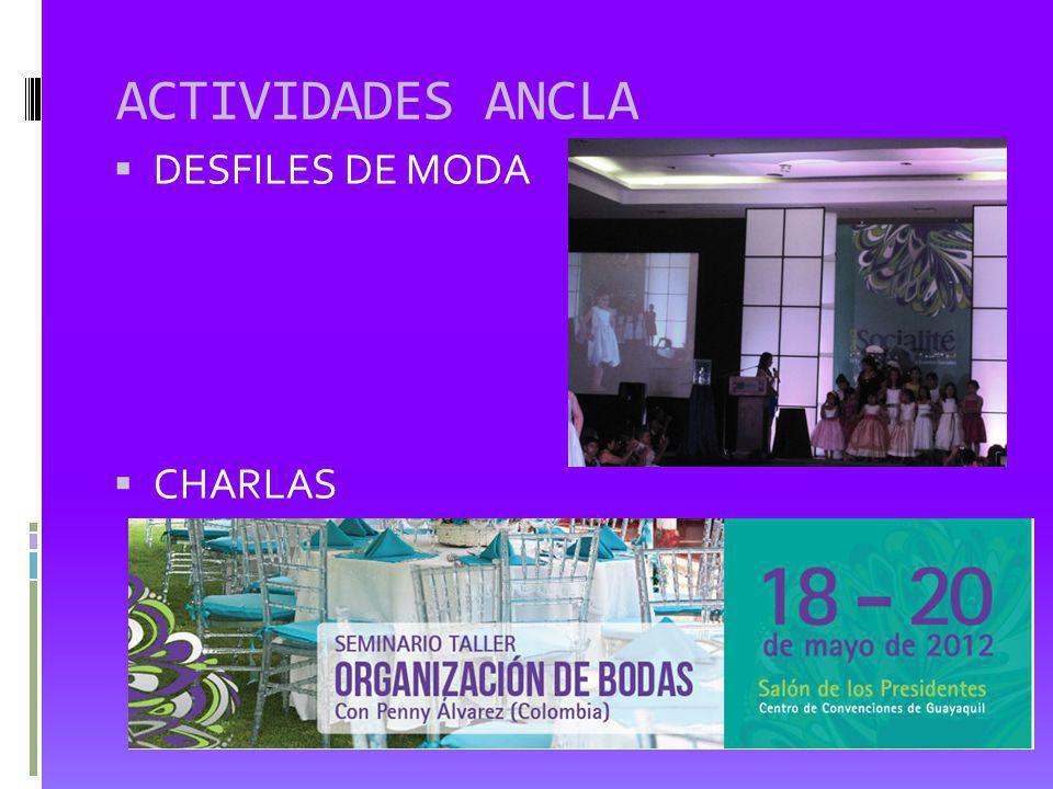 ACTIVIDADES ANCLA DESFILES DE MODA CHARLAS