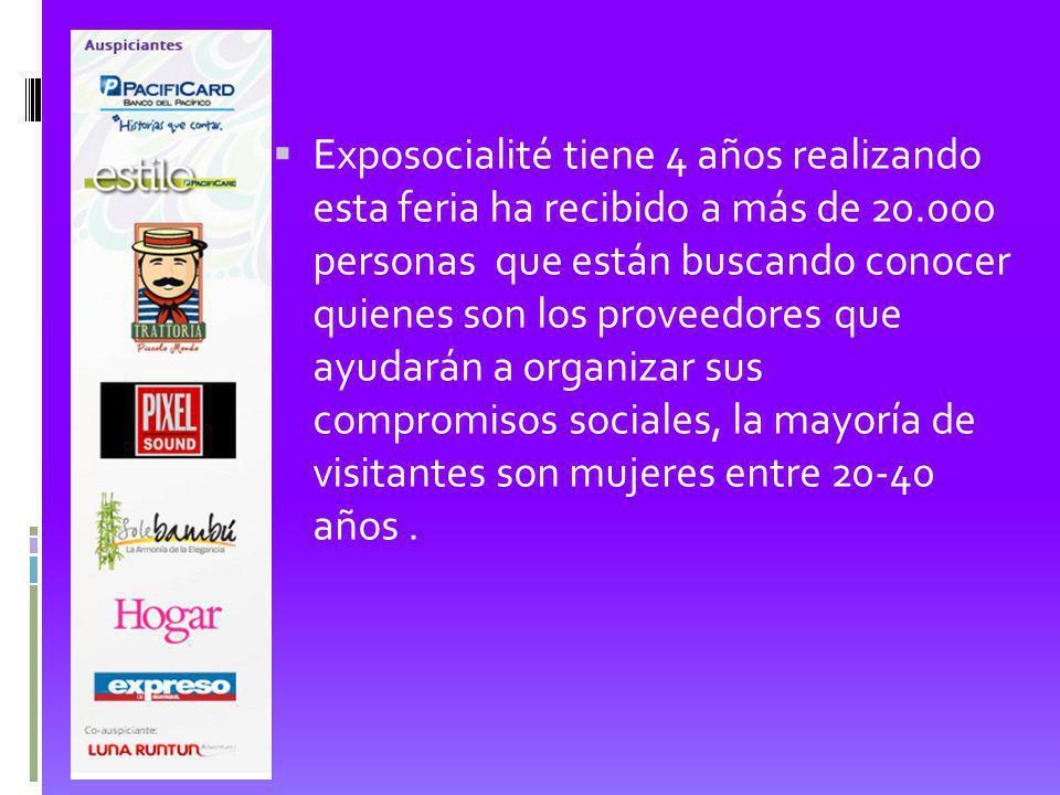 Exposocialité tiene 4 años realizando esta feria ha recibido a más de 20.000 personas que están buscando conocer quienes son los proveedores que ayuda