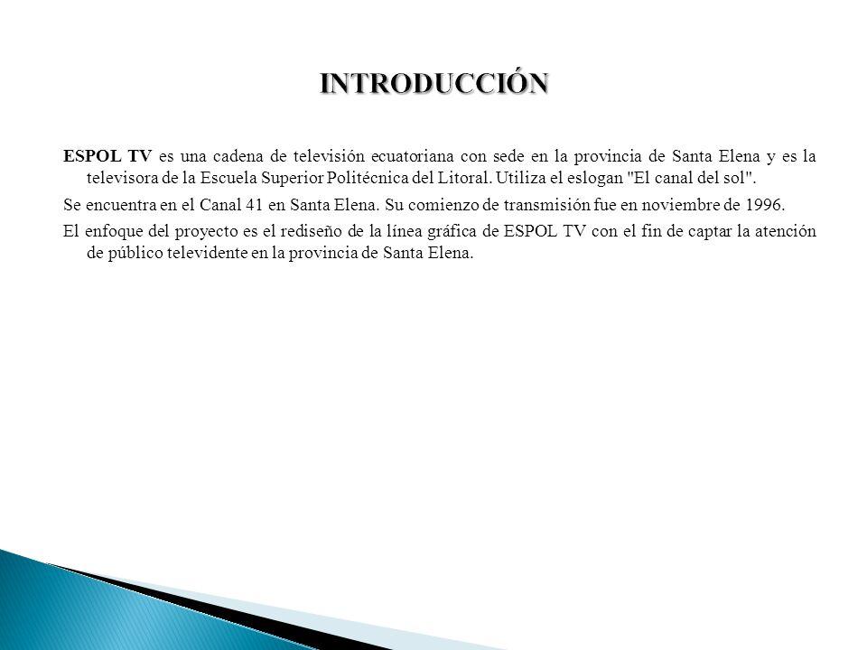 ESPOL TV es una cadena de televisión ecuatoriana con sede en la provincia de Santa Elena y es la televisora de la Escuela Superior Politécnica del Lit