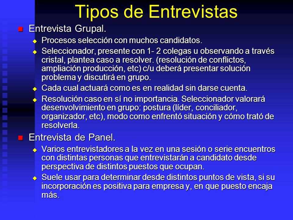 Tipos de Entrevistas Entrevista Grupal.Entrevista Grupal.
