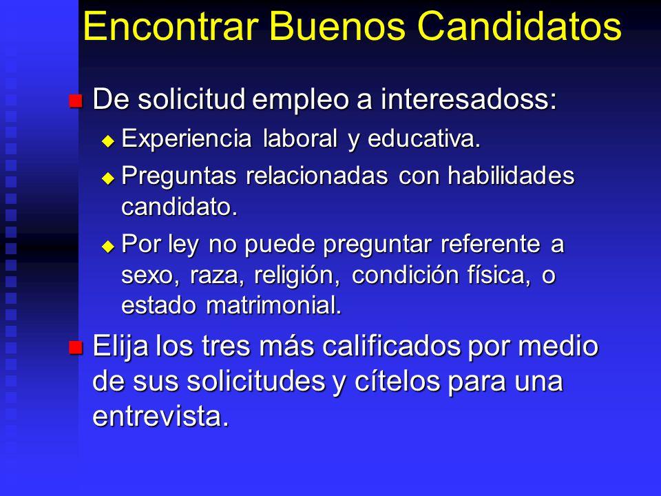 Encontrar Buenos Candidatos De solicitud empleo a interesadoss: De solicitud empleo a interesadoss: Experiencia laboral y educativa.