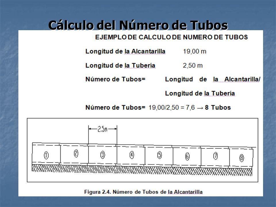 Cálculo del Número de Tubos
