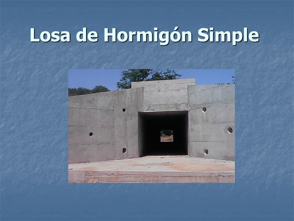 Losa de Hormigón Simple
