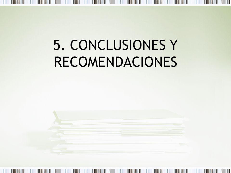 5. CONCLUSIONES Y RECOMENDACIONES