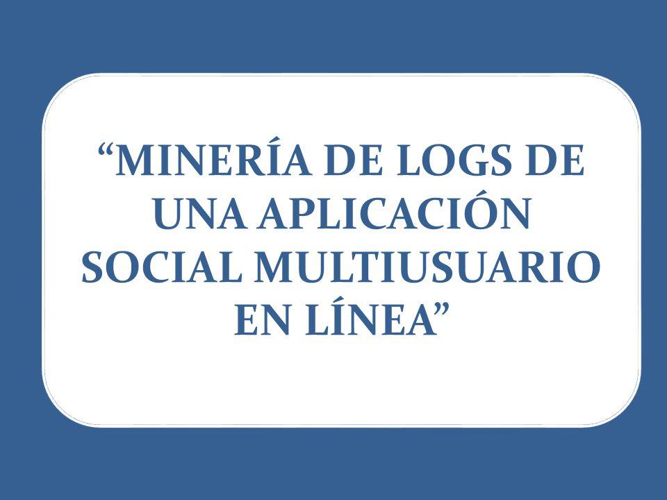 MINERÍA DE LOGS DE UNA APLICACIÓN SOCIAL MULTIUSUARIO EN LÍNEA