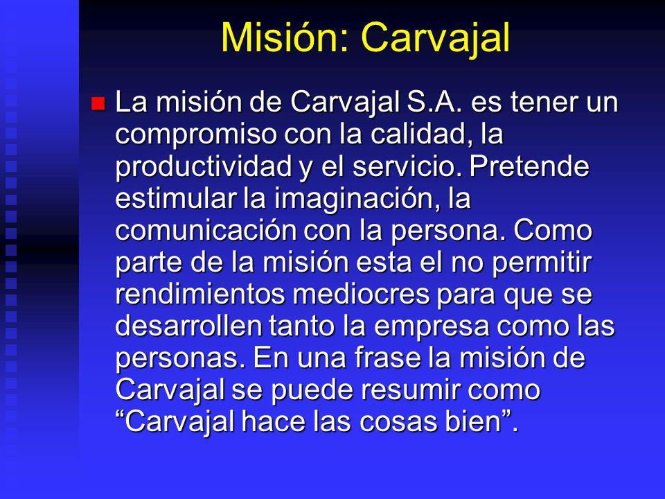 Misión: Carvajal La misión de Carvajal S.A.