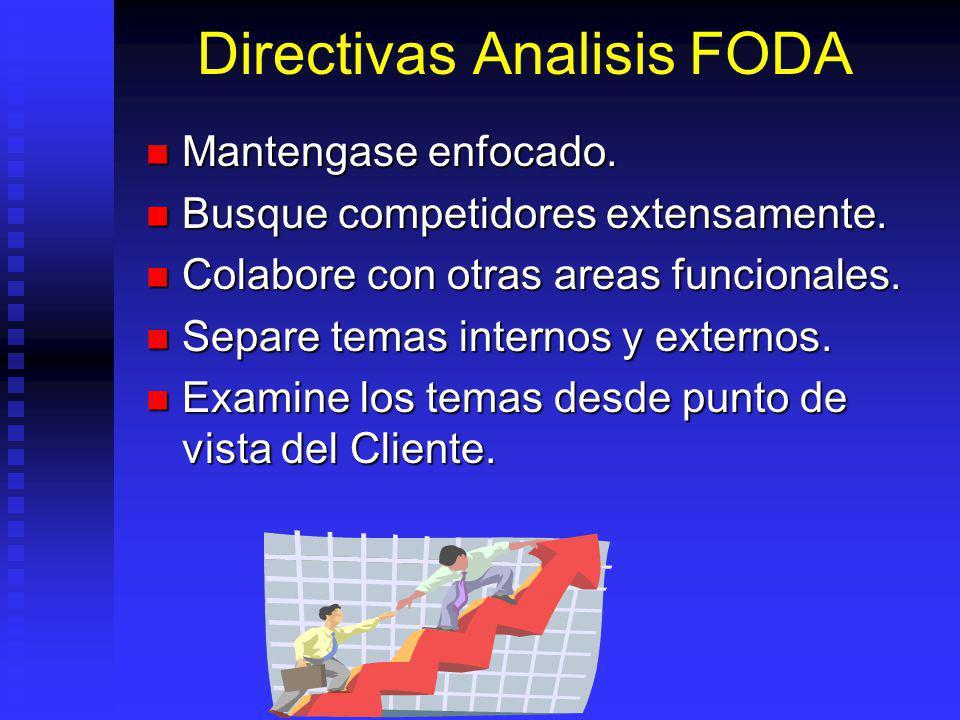 Directivas Analisis FODA Mantengase enfocado.Mantengase enfocado.