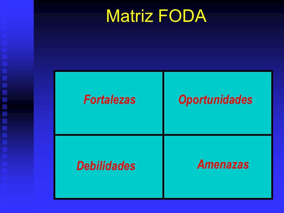 Matriz FODA FortalezasOportunidades Debilidades Amenazas