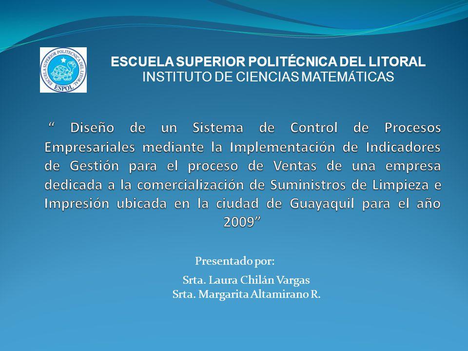 ESCUELA SUPERIOR POLITÉCNICA DEL LITORAL INSTITUTO DE CIENCIAS MATEM Á TICAS Srta.