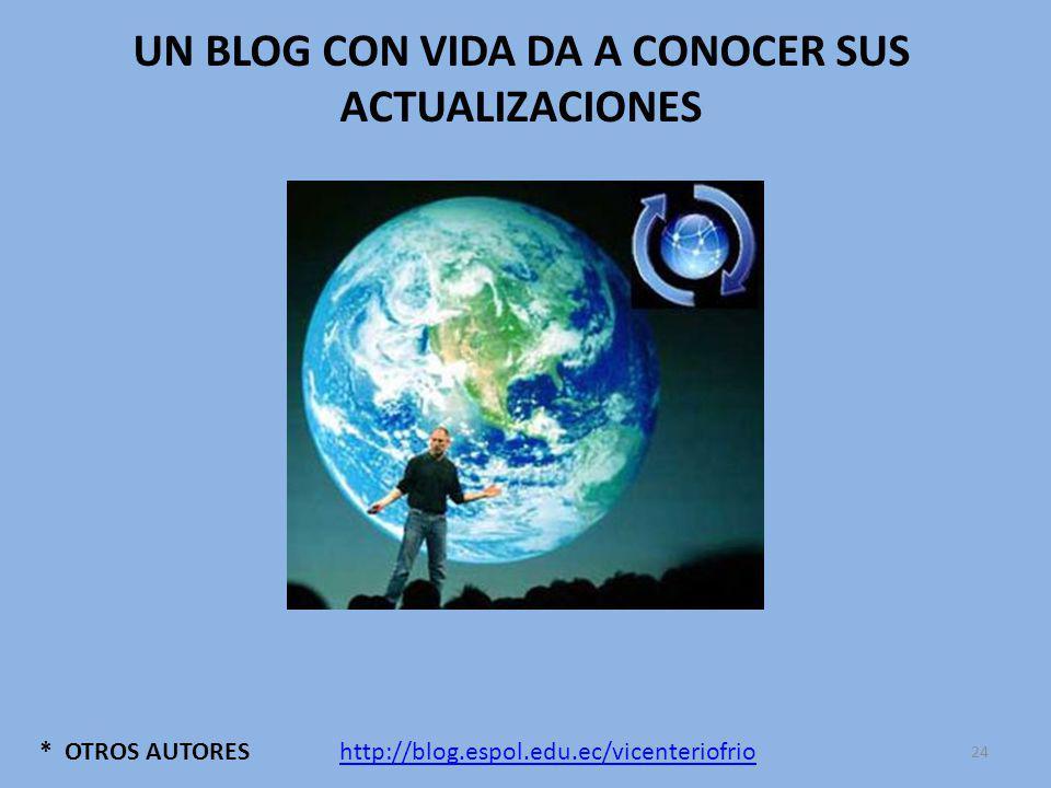 * OTROS AUTORES UN BLOG CON VIDA DA A CONOCER SUS ACTUALIZACIONES http://blog.espol.edu.ec/vicenteriofrio 24