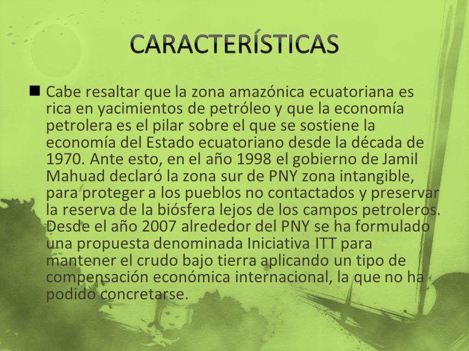 Cabe resaltar que la zona amazónica ecuatoriana es rica en yacimientos de petróleo y que la economía petrolera es el pilar sobre el que se sostiene la