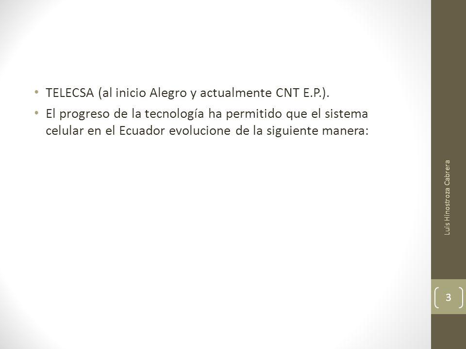 FUTURO MOVISTAR y CLARO Actualmente en el Ecuador todavía no llega ni está implementada la tecnología 4G ni sus derivadas WiMax y LTE.