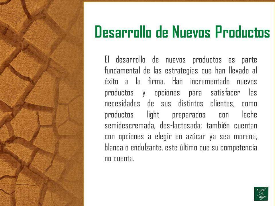 Desarrollo de Nuevos Productos El desarrollo de nuevos productos es parte fundamental de las estrategias que han llevado al éxito a la firma. Han incr