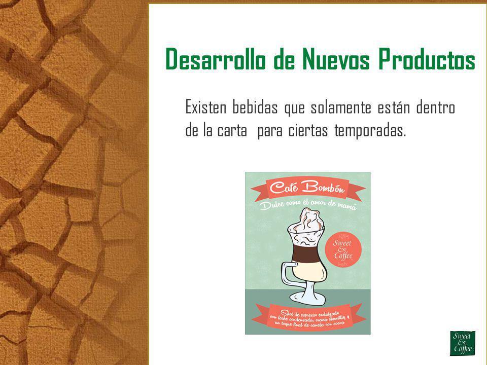 Desarrollo de Nuevos Productos Existen bebidas que solamente están dentro de la carta para ciertas temporadas.