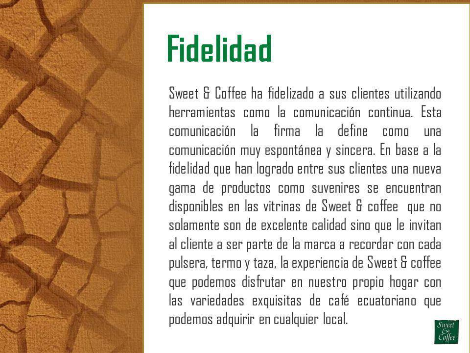 Fidelidad Sweet & Coffee ha fidelizado a sus clientes utilizando herramientas como la comunicación continua. Esta comunicación la firma la define como