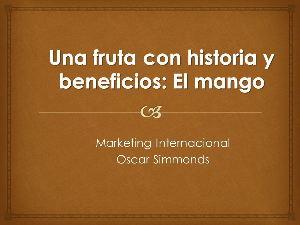 Marketing Internacional Oscar Simmonds