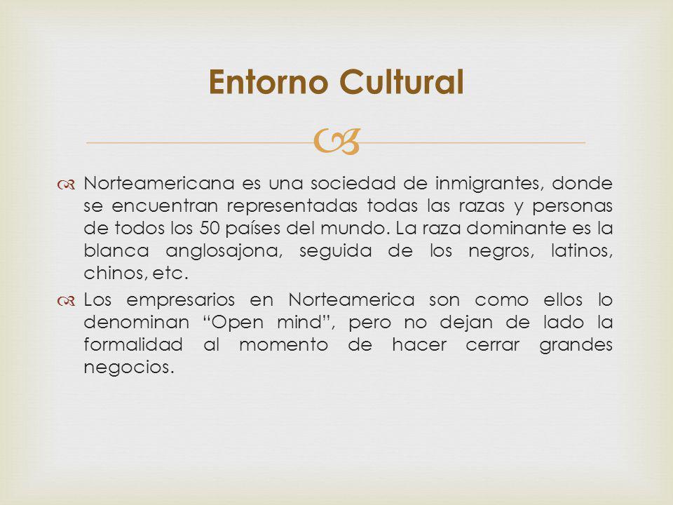 Norteamericana es una sociedad de inmigrantes, donde se encuentran representadas todas las razas y personas de todos los 50 países del mundo. La raza