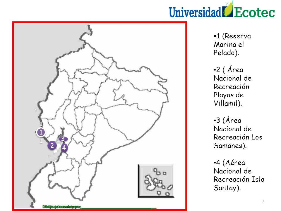 7 1 (Reserva Marina el Pelado).2 ( Área Nacional de Recreación Playas de Villamil).