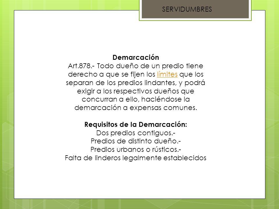 SERVIDUMBRES Medianería Art.