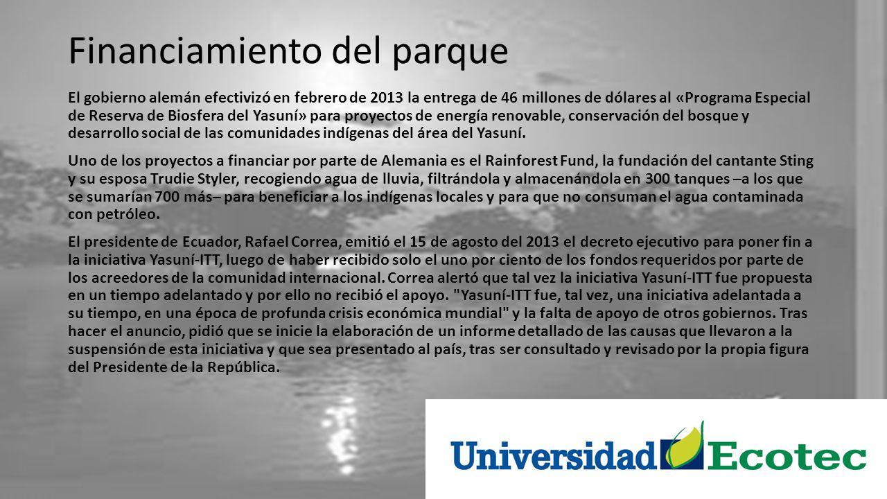 Zona Intangible Cabe resaltar que la zona amazónica ecuatoriana es rica en yacimientos de petróleo y que la economía petrolera es el pilar sobre el que se sostiene la economía del Estado ecuatoriano desde la década de 1970.