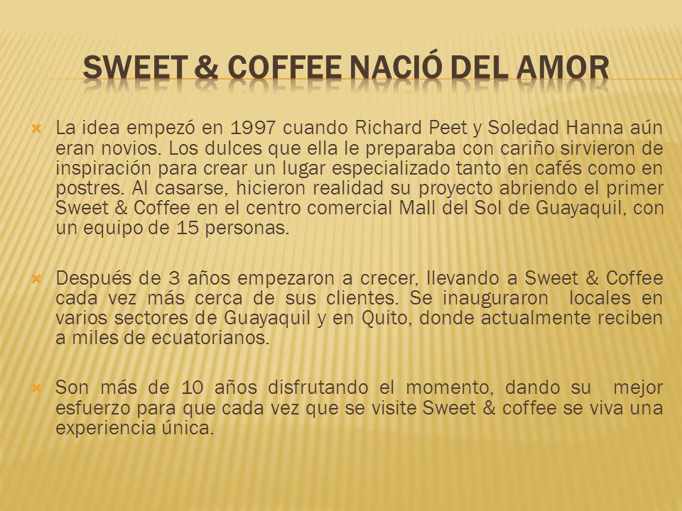 La idea empezó en 1997 cuando Richard Peet y Soledad Hanna aún eran novios. Los dulces que ella le preparaba con cariño sirvieron de inspiración para