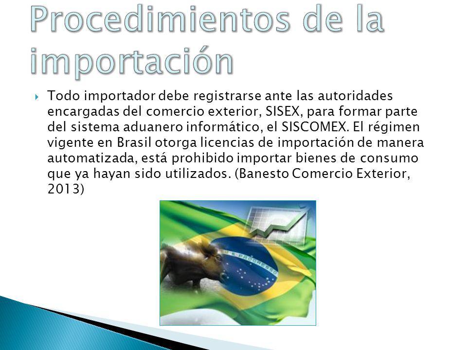 Documento administrativo único Factura comercial (en 3 ejemplares, en portugués) Certificado fitosanitario o sanitario.