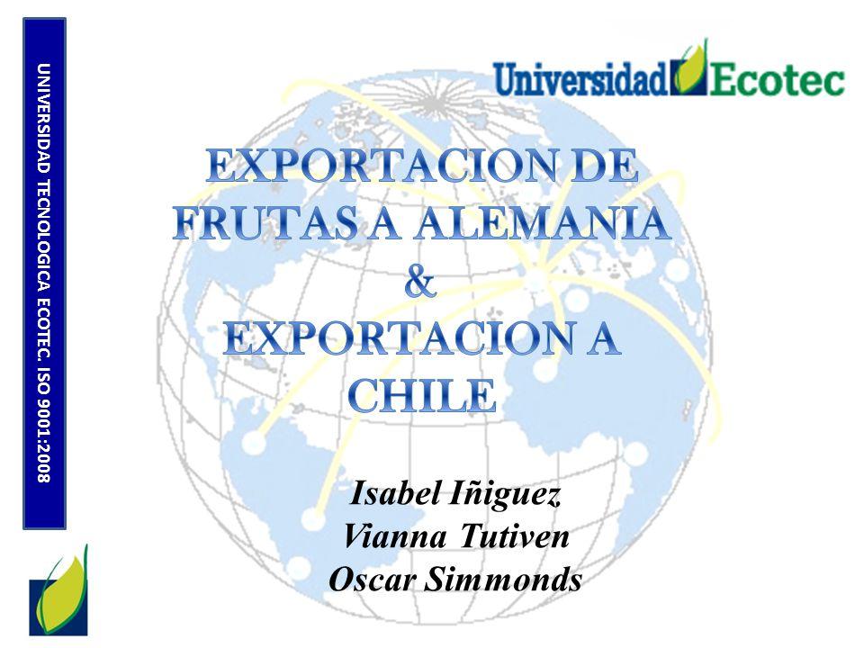 El Ecuador representa un porcentaje mínimo de las importaciones de Chile, representando cerca del 1.52% al 2010.