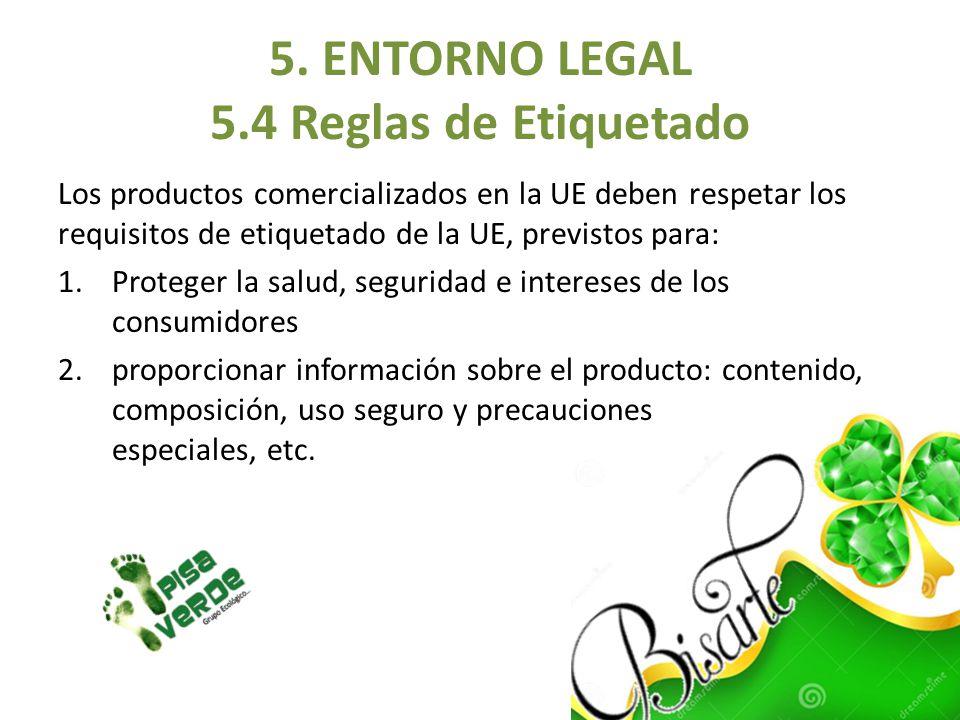 Los productos comercializados en la UE deben respetar los requisitos de etiquetado de la UE, previstos para: 1.Proteger la salud, seguridad e interese
