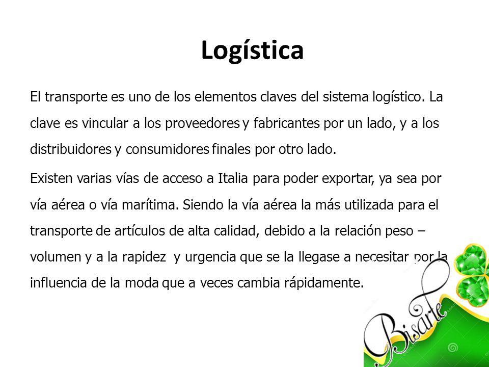 El transporte es uno de los elementos claves del sistema logístico. La clave es vincular a los proveedores y fabricantes por un lado, y a los distribu