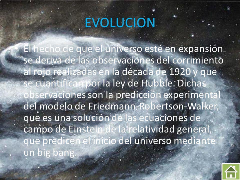 DESCRIPCION FISICA El universo observable (o visible), que consiste en toda la materia y energía que podía habernos afectado desde el Big Bang dada la limitación de la velocidad de la luz, es ciertamente finito.