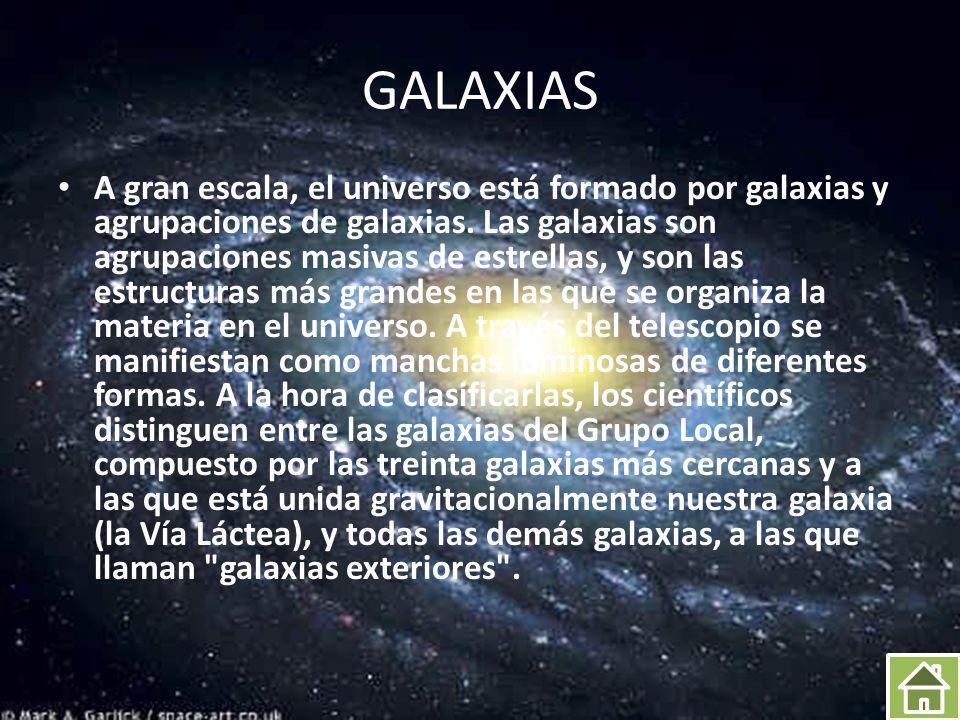 FORMAS DE LAS GALAXIAS a creciente potencia de los telescopios, que permite observaciones cada vez más detalladas de los distintos elementos del universo, ha hecho posible una clasificación de las galaxias por su forma.
