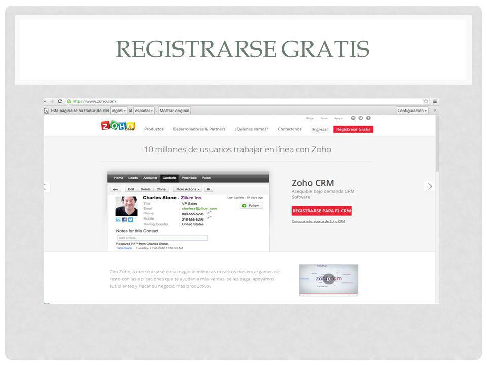REGISTRARSE GRATIS