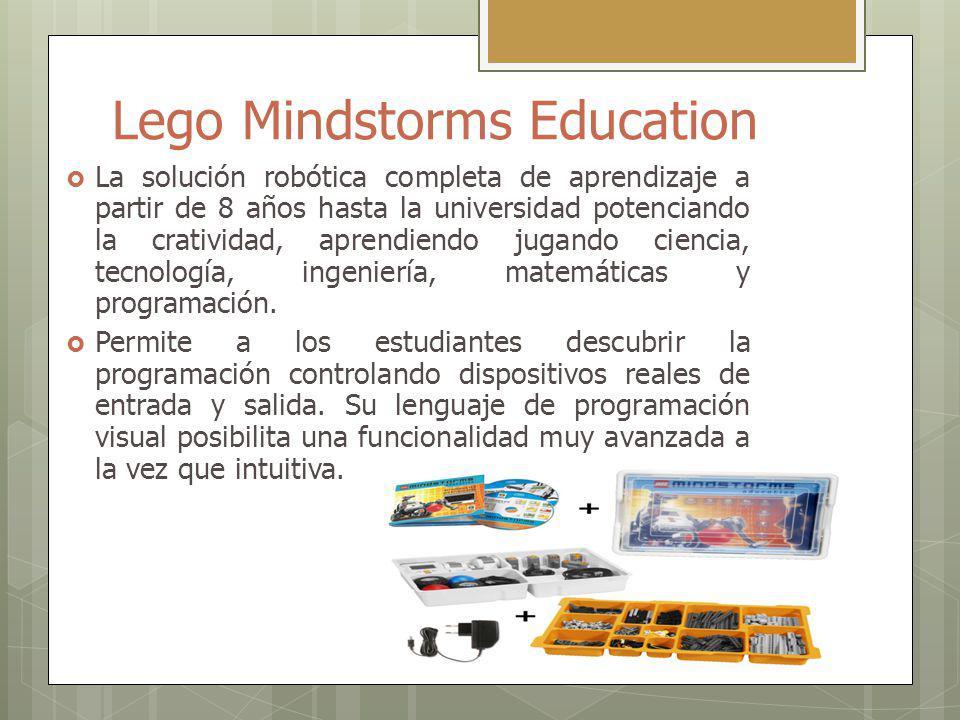 Lego Mindstorms Education La solución robótica completa de aprendizaje a partir de 8 años hasta la universidad potenciando la cratividad, aprendiendo jugando ciencia, tecnología, ingeniería, matemáticas y programación.