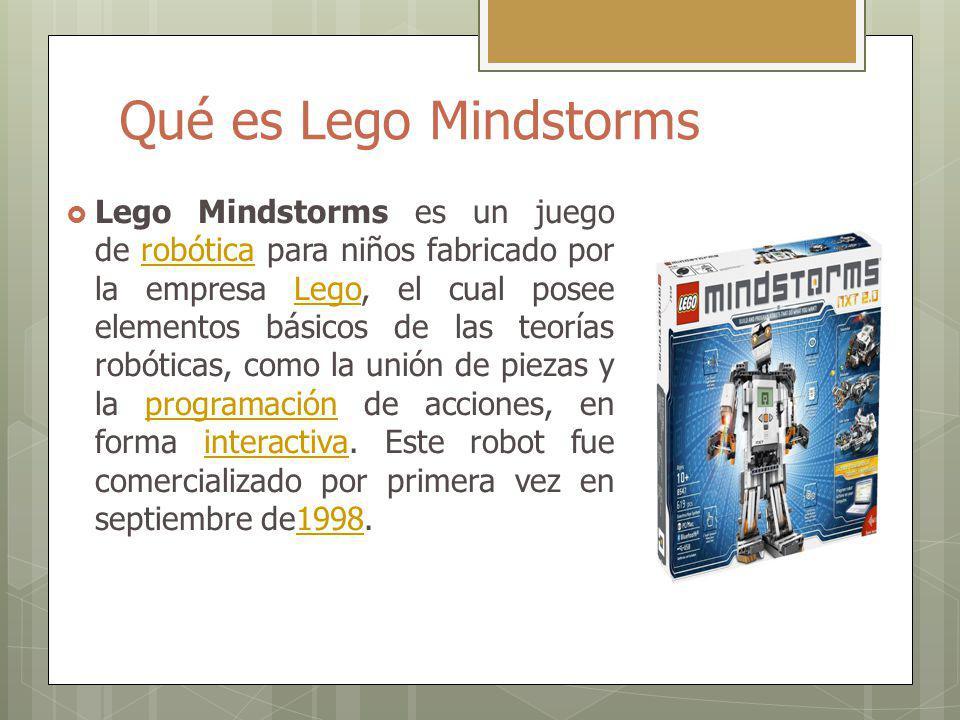 Qué es Lego Mindstorms Lego Mindstorms es un juego de robótica para niños fabricado por la empresa Lego, el cual posee elementos básicos de las teoría