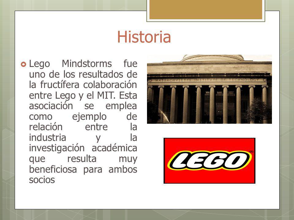 Historia Lego Mindstorms fue uno de los resultados de la fructífera colaboración entre Lego y el MIT. Esta asociación se emplea como ejemplo de relaci