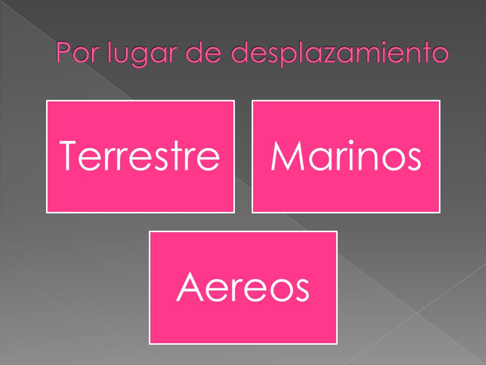 TerrestreMarinos Aereos