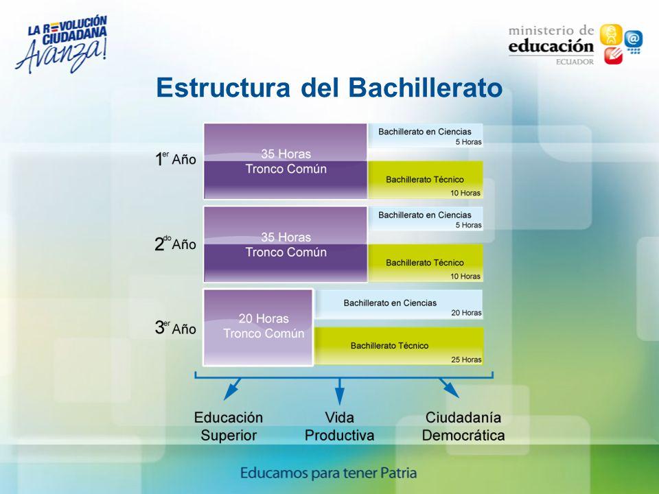 Estructura del Bachillerato