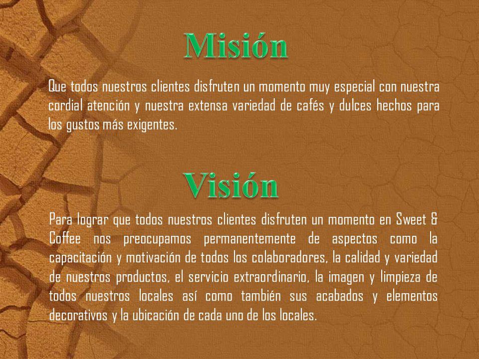 Cultura: V alores y creencias donde el cliente se siente identificado, Sweet and Cooffe es franquisia ecuatoriana por lo tanto Ecuador se identifica por su calidad).
