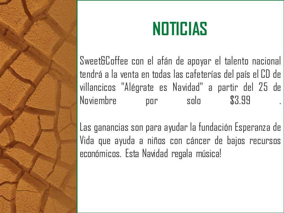 Sweet&Coffee con el afán de apoyar el talento nacional tendrá a la venta en todas las cafeterías del país el CD de villancicos