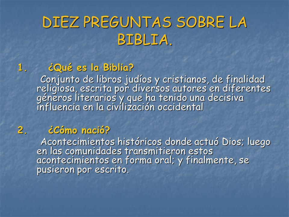 3.¿Cómo está organizada. Se divide en Antiguo Testamento (46) y Nuevo Testamento(27).