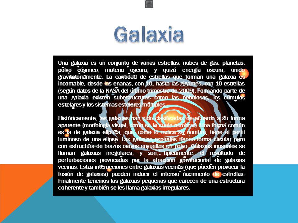 FORMA DE LAS GALAXIAS Según su forma de disponerse constituyen las galaxias, las cuales pueden tener diferentes formas.