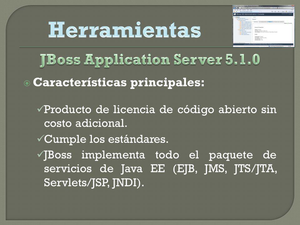 Características principales: Producto de licencia de código abierto sin costo adicional.