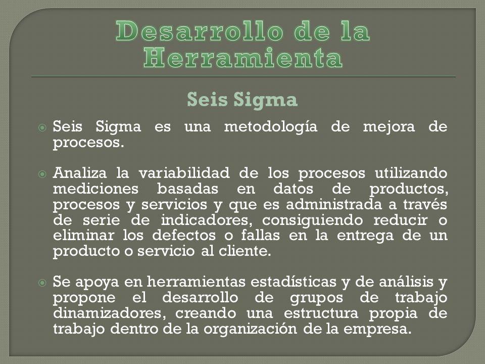 Seis Sigma es una metodología de mejora de procesos.