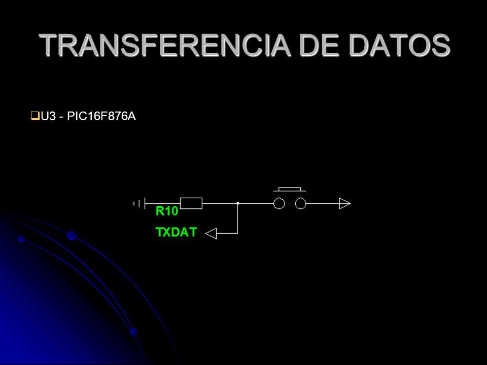 TRANSFERENCIA DE DATOS U3 - PIC16F876A