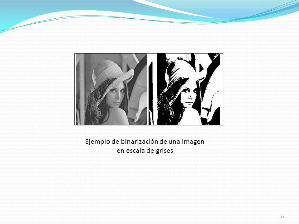 Ejemplo de binarización de una imagen en escala de grises 11