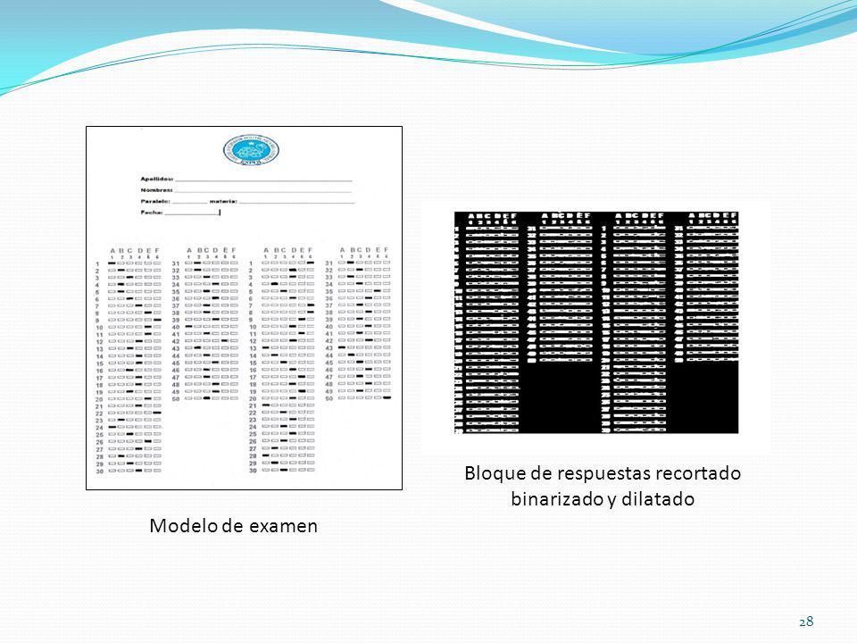 28 Modelo de examen Bloque de respuestas recortado binarizado y dilatado