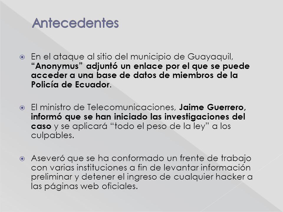 Web de la Presidencia Ecuatoriana sufrió ataque informático