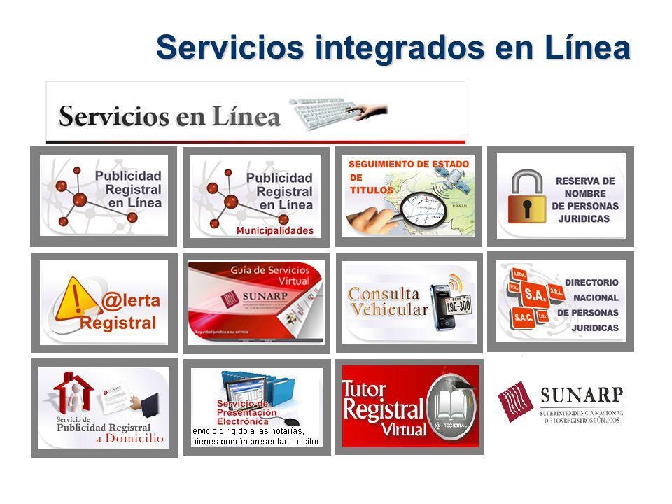 Servicios integrados en Línea