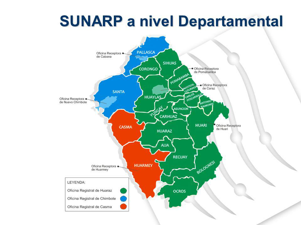 SUNARP a nivel Departamental